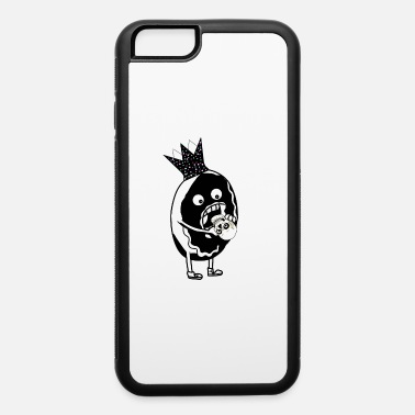 Skull Donut eating Horror Skull Gothic Grufti King - iPhone 6/6s Rubber Case