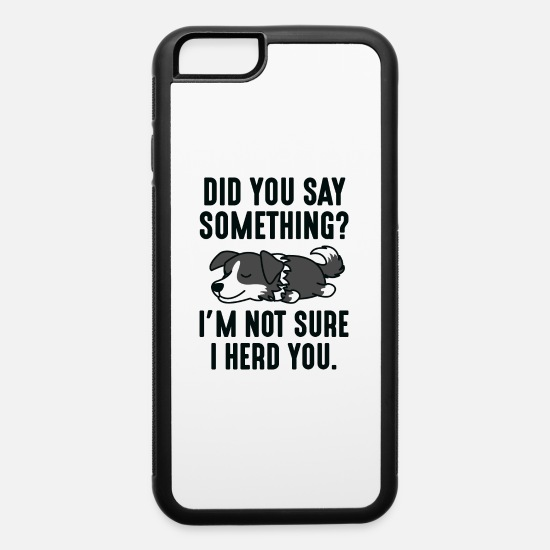 Pun iPhone Cases - I Herd You - iPhone 6 Case white/black