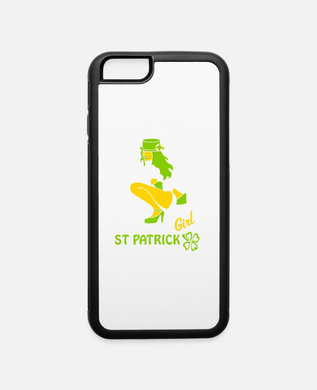 St Patricks Day iPhone Cases - st patricks for st. patricks day the irish shamroc - iPhone 6 Case white/black