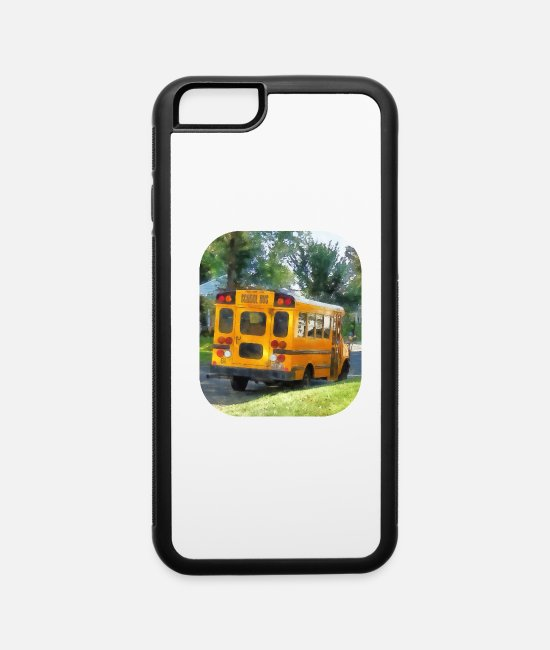 Bus iPhone Cases - Parked School Bus - iPhone 6 Case white/black