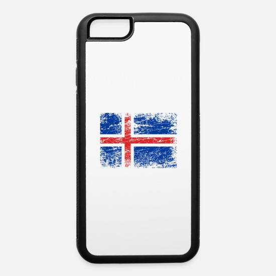 Look Good iPhone Cases - Iceland Flag Used Look - iPhone 6 Case white/black