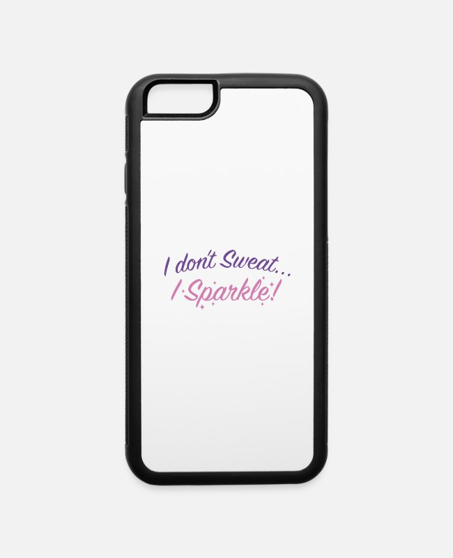 Runner iPhone Cases - I Don't Sweat - iPhone 6 Case white/black