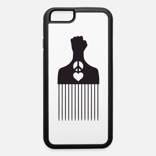 Love iPhone Cases - SS Peace Love Hair Pick - iPhone 6 Case white/black