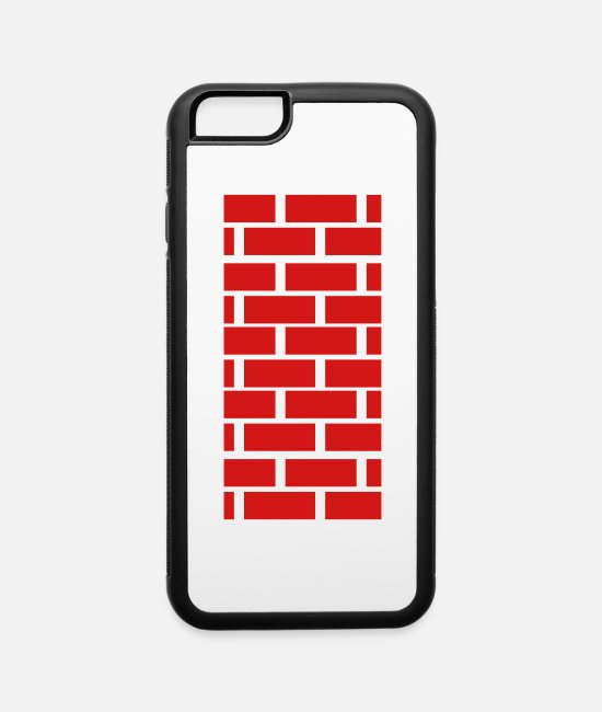 Bricklayer iPhone Cases - brick wall - iPhone 6 Case white/black