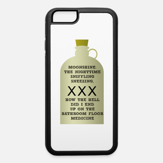 Medicine iPhone Cases - MOONSHINE MEDICINE - iPhone 6 Case white/black