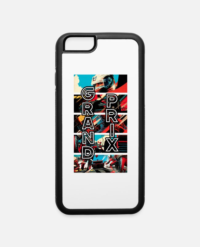 Artist iPhone Cases - f1 pitstop - iPhone 6 Case white/black