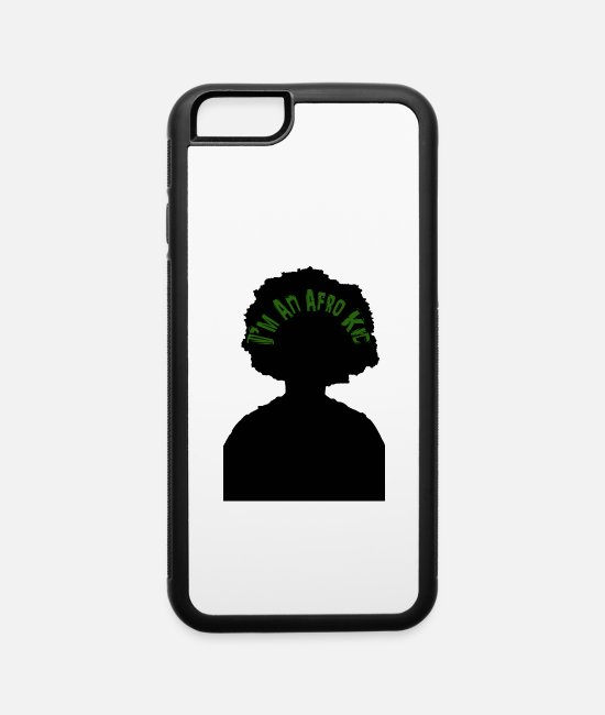 Natural Hair iPhone Cases - T-Shirt Design - I'm An Afro Kid - iPhone 6 Case white/black