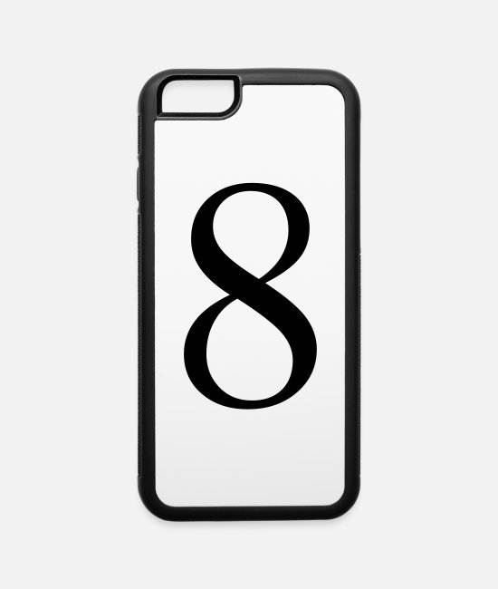 Number iPhone Cases - number 8 - iPhone 6 Case white/black