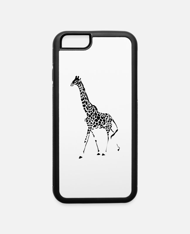 Teenage iPhone Cases - Giraffes Endangered Wildlife Africa T shirts - iPhone 6 Case white/black