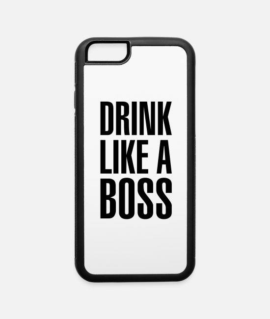 Office iPhone Cases - Drink like a boss - iPhone 6 Case white/black
