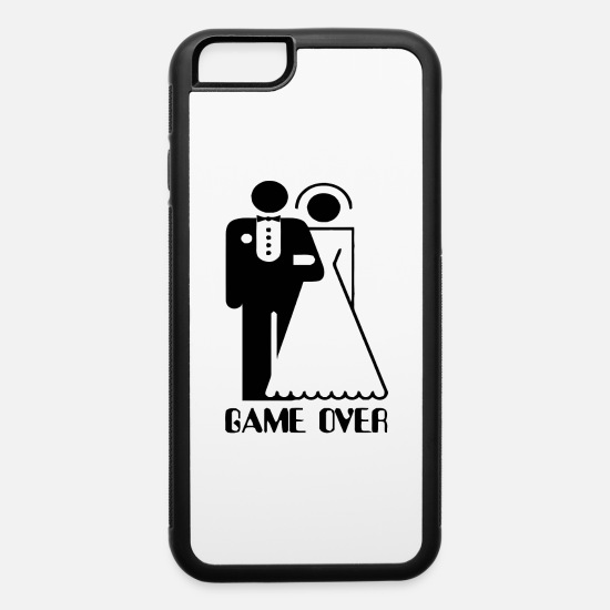 Over iPhone Cases - Game Over - iPhone 6 Case white/black