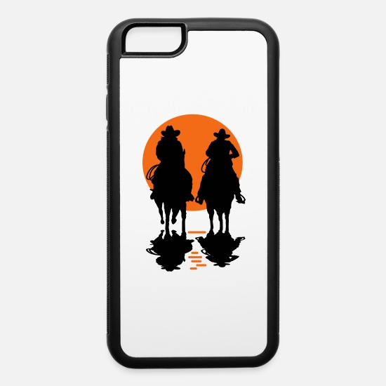 Horse iPhone Cases - cowboy - iPhone 6 Case white/black