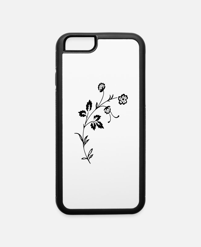 Give iPhone Cases - Flower 103 - iPhone 6 Case white/black