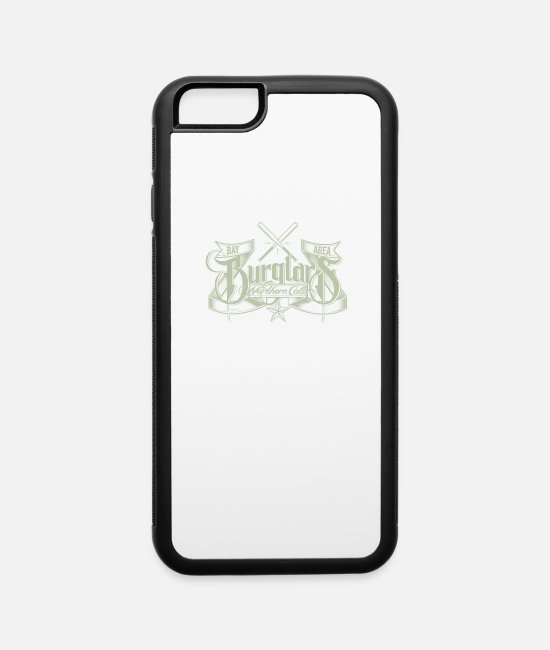Burglar Funny iPhone Cases - Burglars notheren cali - iPhone 6 Case white/black
