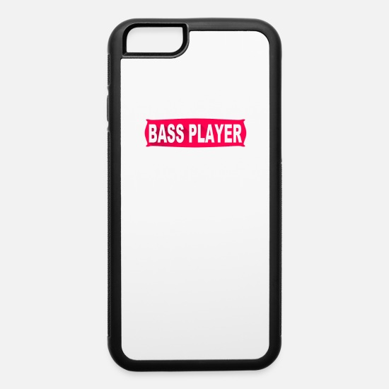 New iPhone Cases - Bass Player - iPhone 6 Case white/black