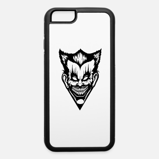 Horror iPhone Cases - Horror Face - iPhone 6 Case white/black