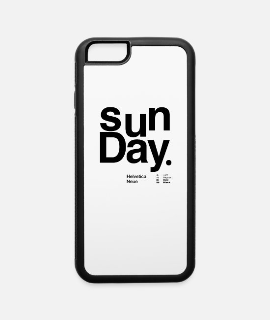 Alphabet iPhone Cases - sunday typography - iPhone 6 Case white/black