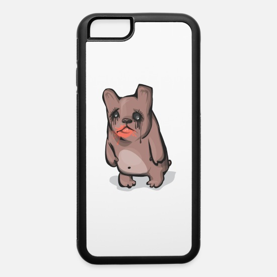 Boredom iPhone Cases - Sad Bear - iPhone 6 Case white/black