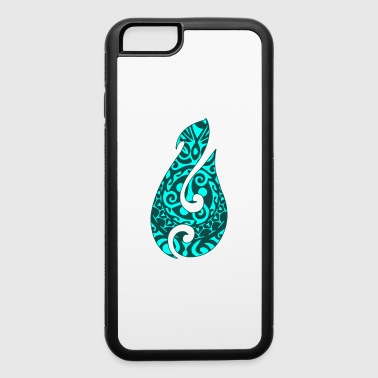 Maori Hei Matau Fishhook Tatoo Tribal Green - Gift - iPhone 6/6s Rubber Case