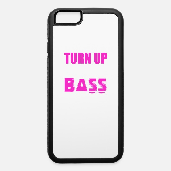 Bass iPhone Cases - Turn Up The Bass - iPhone 6 Case white/black