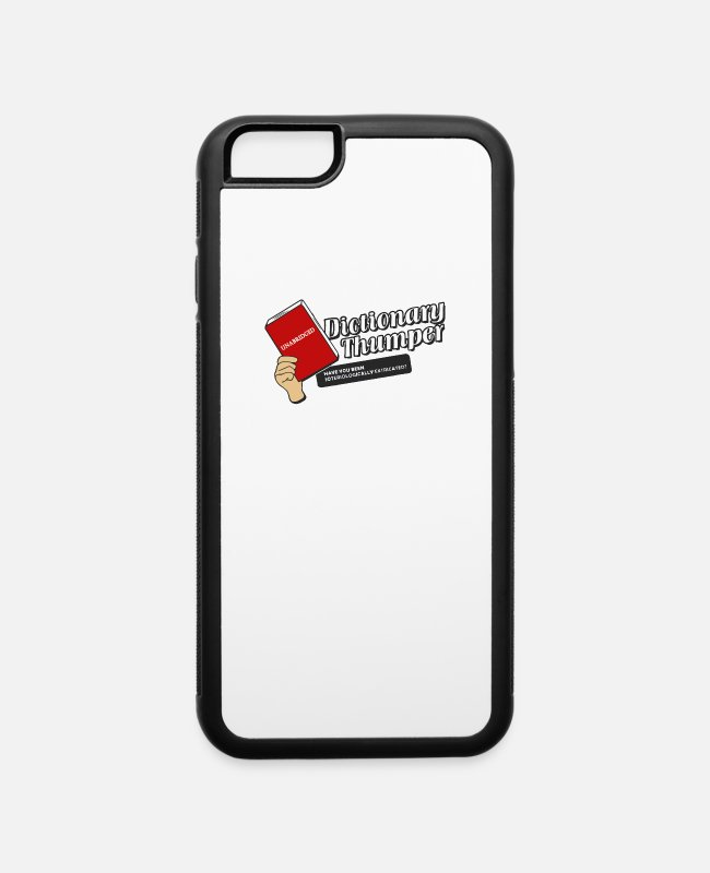 Movie iPhone Cases - Dictionary Thumper - iPhone 6 Case white/black