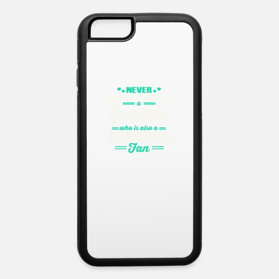 Grandmaster iPhone Cases - Never Underestimate A Grandma Who Is Also A Fan - iPhone 6 Case white/black