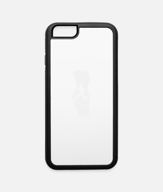 Mountains iPhone Cases - Mountain Climbing Funny Logo - iPhone 6 Case white/black