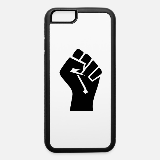 Fist iPhone Cases - fist - iPhone 6 Case white/black