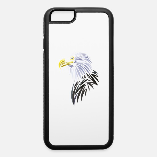 Tribal iPhone Cases - Tribal eagle - iPhone 6 Case white/black