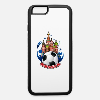 001 Russian buildings and ball - iPhone 6/6s Rubber Case