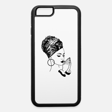 Woman Black Woman with Turban Praying Head wrap African - iPhone 6 Case