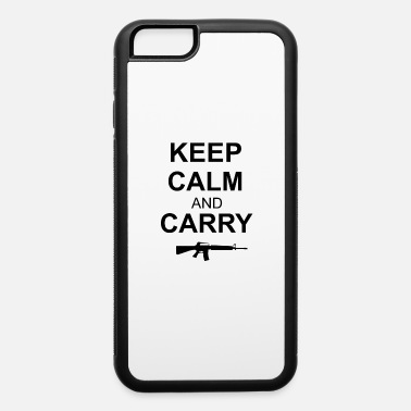 KEEP CALM AND CARRY GUN-M41 - iPhone 6/6s Rubber Case