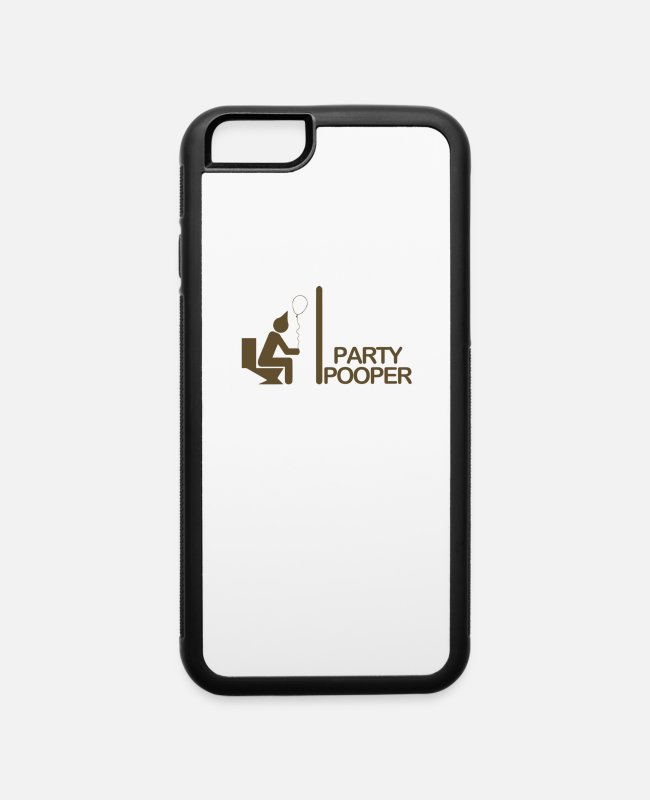 Party iPhone Cases - Party Pooper - iPhone 6 Case white/black