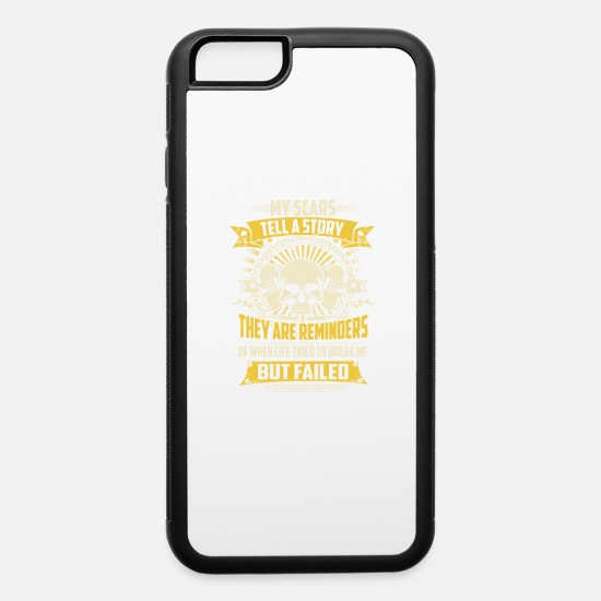 Gas Mig Welder iPhone Cases - My Scars Tell A Story Welder T-Shirts - iPhone 6 Case white/black
