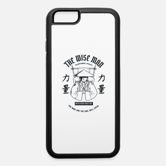 Zen iPhone Cases - The Wise Zen Man - iPhone 6 Case white/black