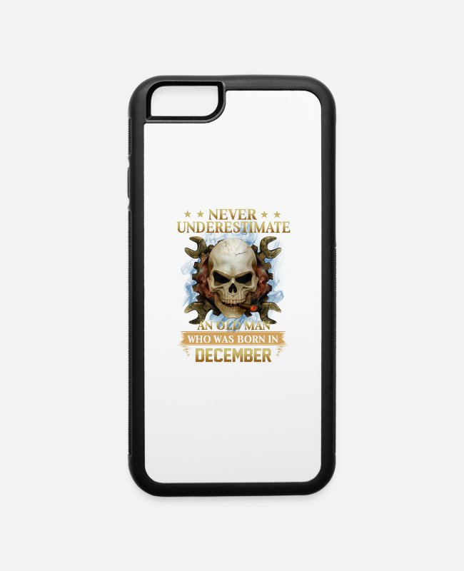 Super Woman iPhone Cases - DECEMBER - NEVER UNDERESTIMATE - iPhone 6 Case white/black