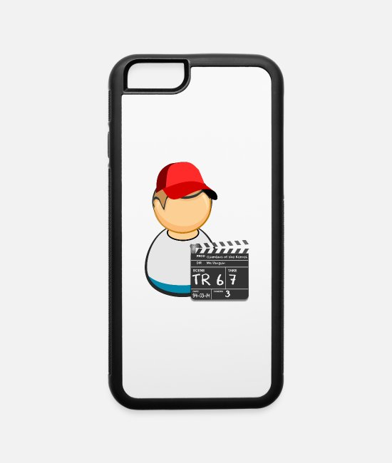 Play iPhone Cases - Clapperboard guy - iPhone 6 Case white/black