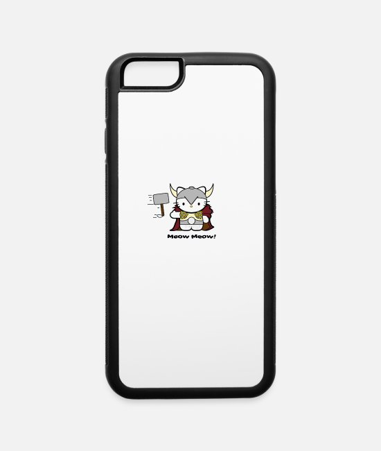 App iPhone Cases - Meow Meow II Kitty Thor - iPhone 6 Case white/black
