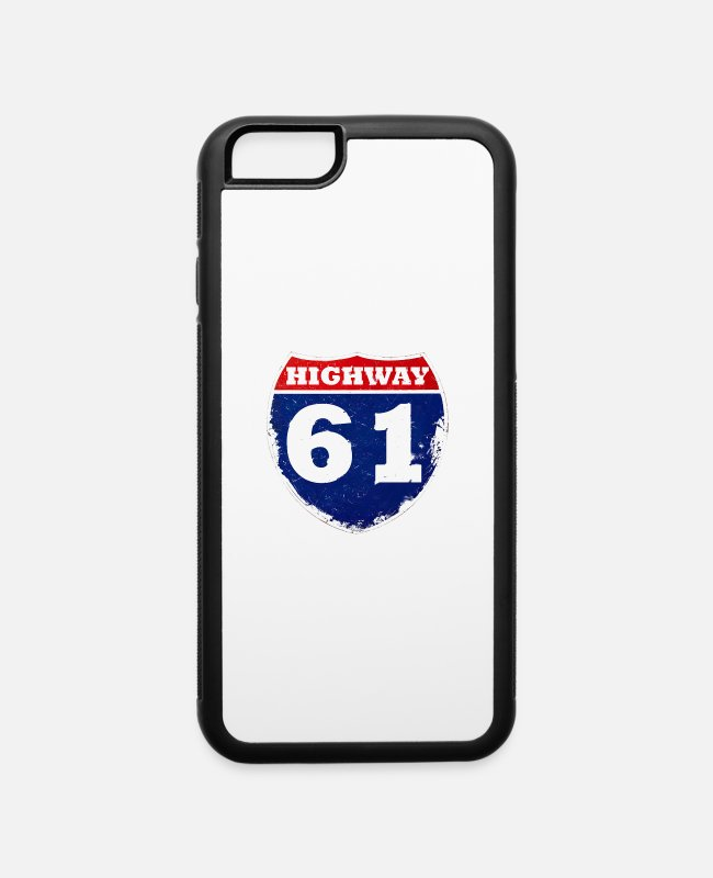 Dylan iPhone Cases - Highway 61 - iPhone 6 Case white/black