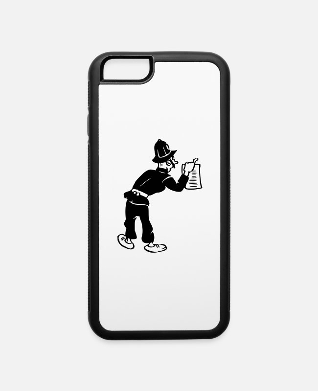 Office iPhone Cases - Policeman with warrant - iPhone 6 Case white/black
