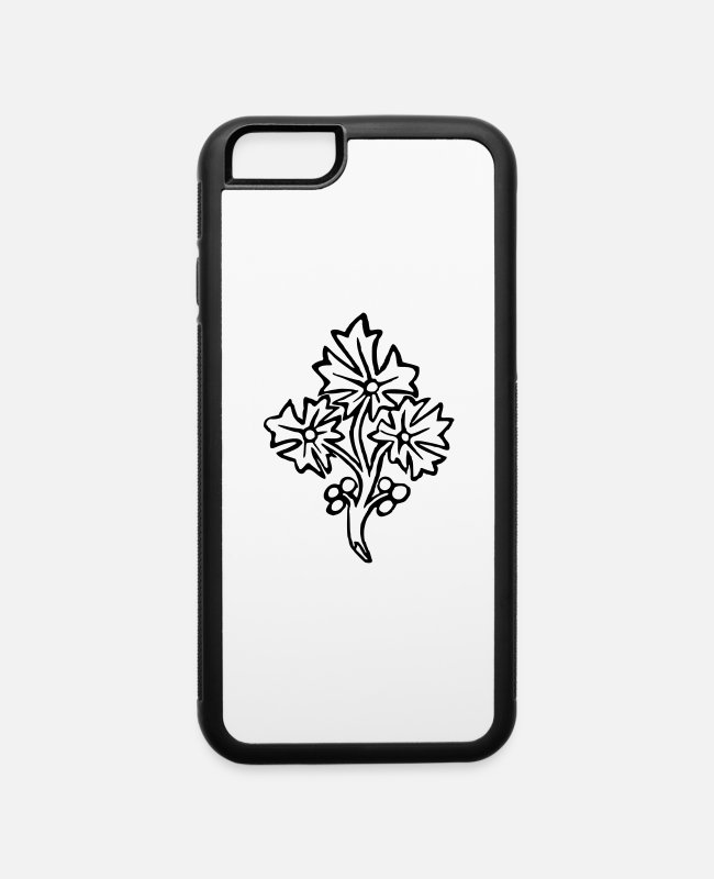 Give iPhone Cases - Flower 31 - iPhone 6 Case white/black