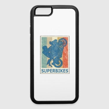 Retro VIntage Style Superbikes Motocross Biker - iPhone 6/6s Rubber Case