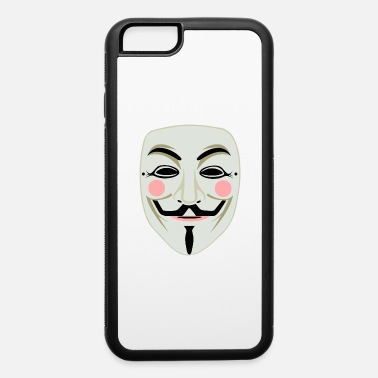 Anonymous face mask - iPhone 6/6s Rubber Case