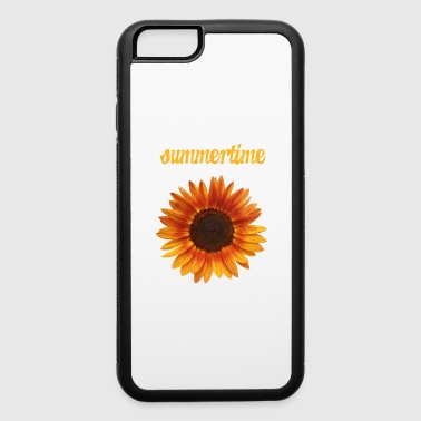 summertime - beautiful sunflower blossom - iPhone 6/6s Rubber Case