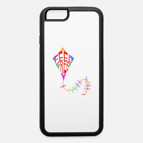Free Hugs iPhone Cases - feel free kite fly - iPhone 6 Case white/black