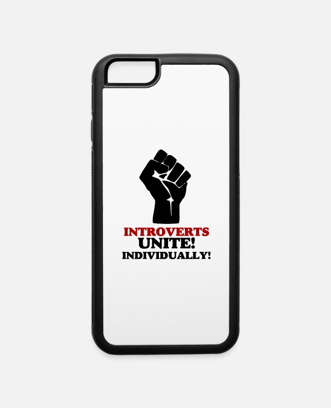 Introvertido iPhone Cases - Introverts Unite - iPhone 6 Case white/black