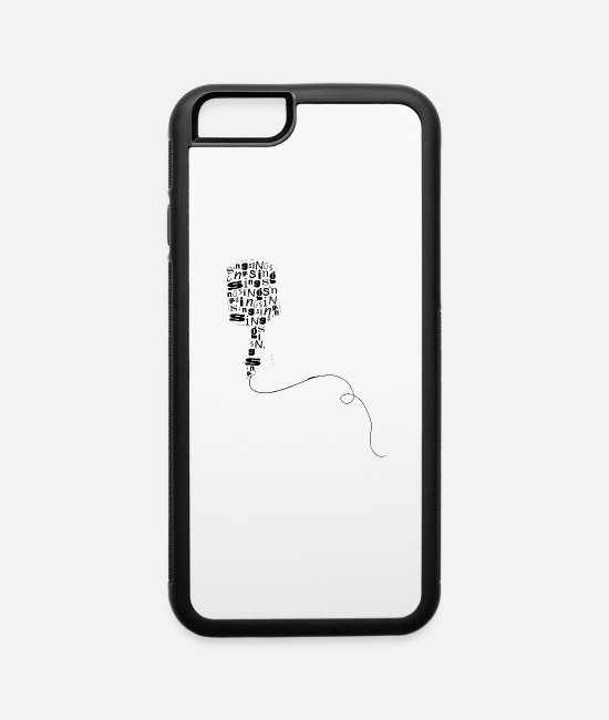 Artist iPhone Cases - Microphone Typography - iPhone 6 Case white/black