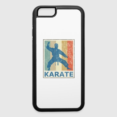 Retro Vintage Style Karate Fighter Martial Arts - iPhone 6/6s Rubber Case