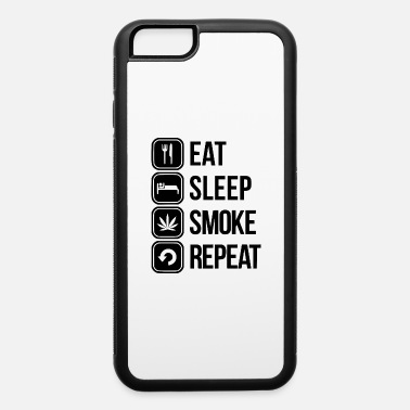 Sleeping eat sleep smoke repeat - iPhone 6/6s Rubber Case