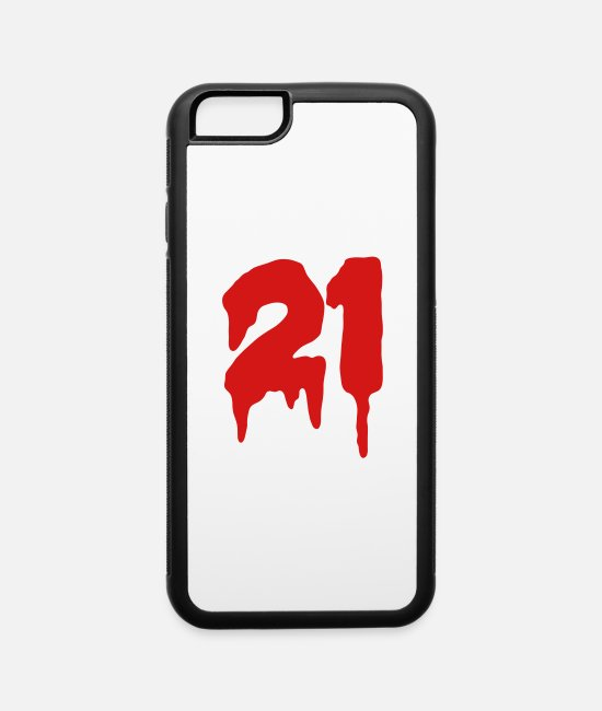 Numeral iPhone Cases - Number 21 - iPhone 6 Case white/black